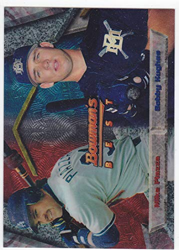 1994 BOWMANS BEST MIKE PIAZZA BOBBY HUGHES CARD