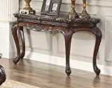 Homelegance Mariacarla Console Table in Dark Cherry For Sale