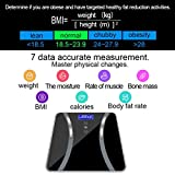 XGao 丨Digital Weight Scale丨 丨Bathroom Fat Scale Display丨 Seven Ttems Of Data丨 180KG/400 Pounds (black)