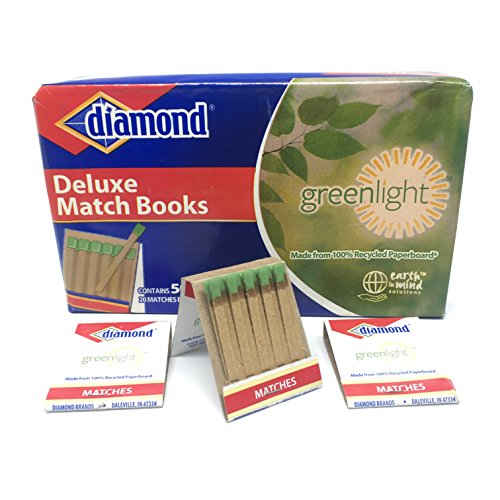 Diamond Greenlight Deluxe Match Books  Made From 100 Percent Recycled Paperboard