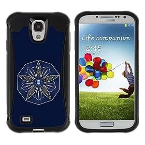 Paccase / Suave TPU GEL Caso Carcasa de Protección Funda para - Flower - Samsung Galaxy S4 I9500