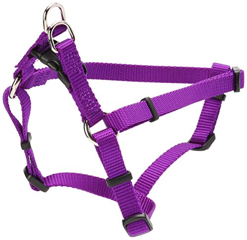 Coastal Pet Products Nylon Comfort Wrap Adjustable Dog Harness, 3/8-Inch, 12 Inch-18 Inch, Purple