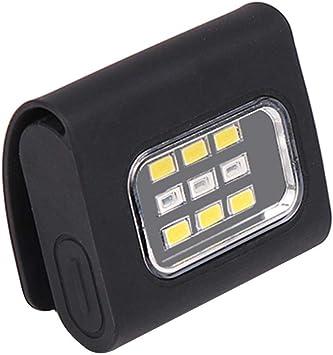 Linterna LED magnética COB con clip para gorra, luz USB de carga ...