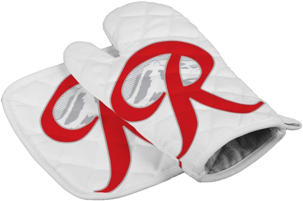 LijiahuaMitts Rainier Beer Capital R Mountain Heat Resistant Oven Mitts and Pot Holders,Safe Kitchen Cooking Baking Grilling