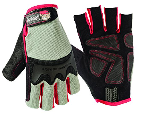 Big Time Products Grease Monkey Pro Fingerless Gloves (Large)