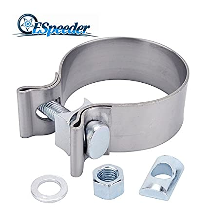 ESPEEDER 2.5'Stainless Steel Narrow Band Exhaust Seal Clamp with 1 Block Nansheng