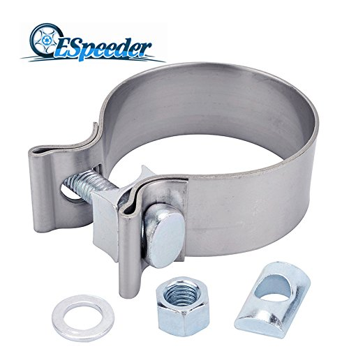 "ESPEEDER 2""Stainless Steel Butt Joint Narrow Band Exhaust Seal Clamp with 1 Block"