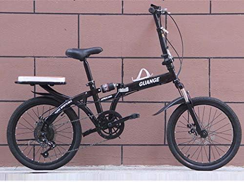 耐荷重リアフレームと男性と女性のための自転車を折りたたみ、20インチの可変速自転車ダブルディスクブレーキのフルサスペンション滑り止め、