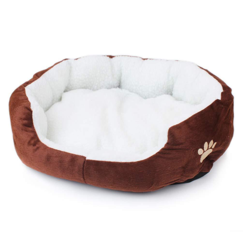 Kesheng Cama para Perros Mascotas de Polar Sherpa 50cmx40cm / 60cmx50cm Bordada del Diseñ o Pata