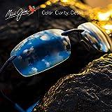 Maui Jim Sunglasses | Kumu B724-02 | Gloss Black Rimless Frame, Polarized Blue Hawaii Lenses, with Patented PolarizedPlus2 Lens Technology