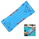 Pool Party Pong Water Bed, Inflatable Beer Pong Table Swim Floating Beer Table Row Water Bed Raft and Lounge For Summer Swimming Pool