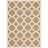 Cheap Safavieh Courtyard Collection CY6913-242 Brown and Bone Indoor/Outdoor Area Rug (5'3″ x 7'7″)