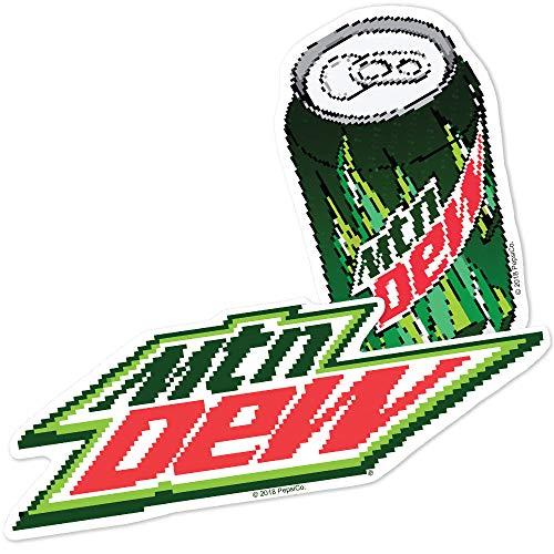 Popfunk Mountain Dew 8 Bit Logos Collectible Stickers ()