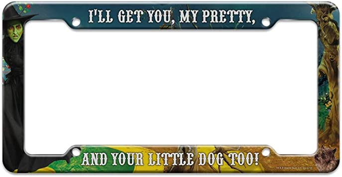Graphics and More Wizard of Oz Lion Character License Plate Tag Frame