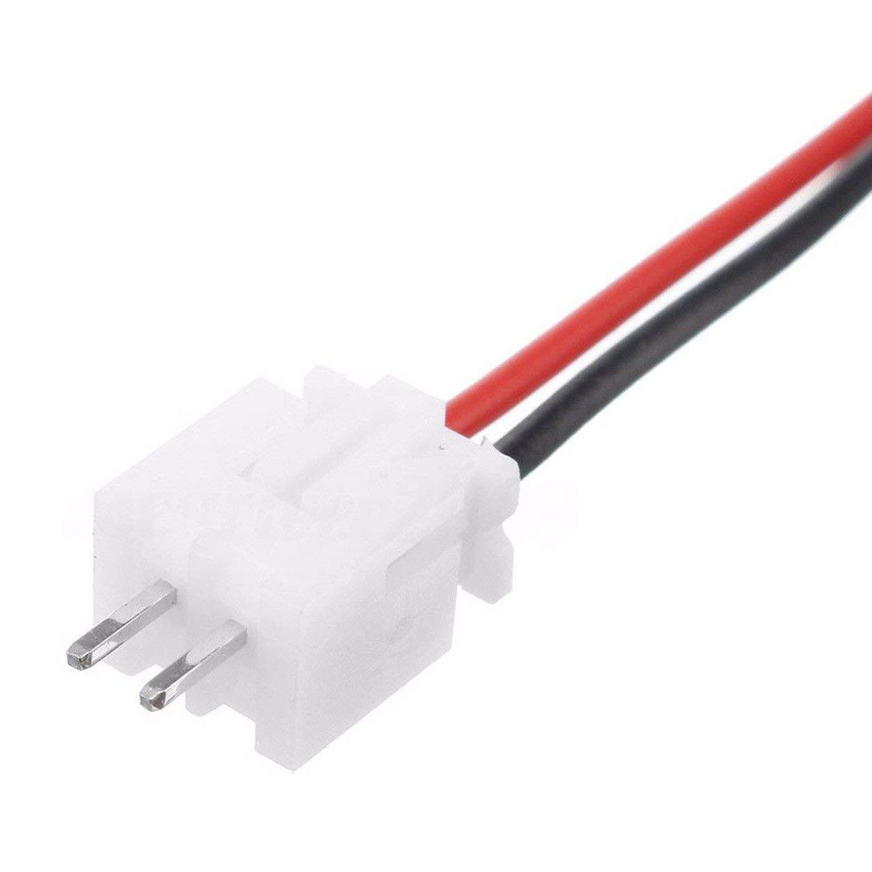 Dailyinshop 10 Set Mini Micro JST XH2,54mm Connettore a 2 Pin con Cavi Cavi 150mm Colore: Rosso