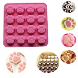 Product review for Paw Silicone Cake Mold, SmartK Cat Paw Print Silicone Cookie Cake Candy Chocolate Mold Soap Ice Cube Mold (Large)