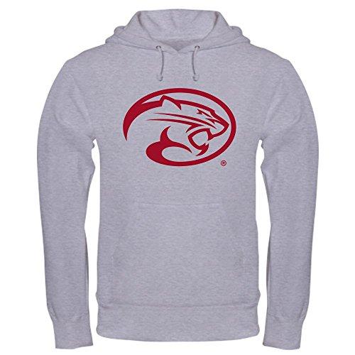 CafePress Houston Cougar Mascot Logo Pullover Hoodie, Classic & Comfortable Hooded Sweatshirt Heather Grey (Mascot Houston Pants)