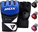 RDX MMA Gloves Grappling Martial Arts Sparring Punching Bag Cage Fighting Maya Hide Leather Mitts Combat Training