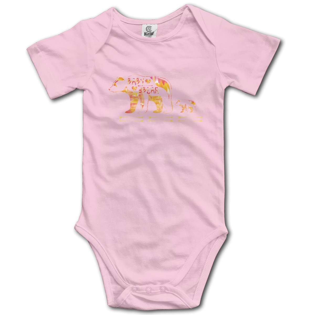 Papa Mama Baby Bear Cub Youth Boys /& Girls Black Short Sleeve Romper Triangle Romper for 0-24 Months