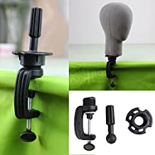 Dremahair Black Wig Stand Clamp High Quality Manikin Head Wig Holder Clamp for Wig Head