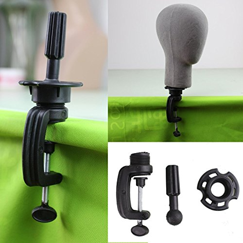 Dreambeauty Black Wig Stand Clamp Manikin Head Wig Holder Clamp for Wig (Wig Head)