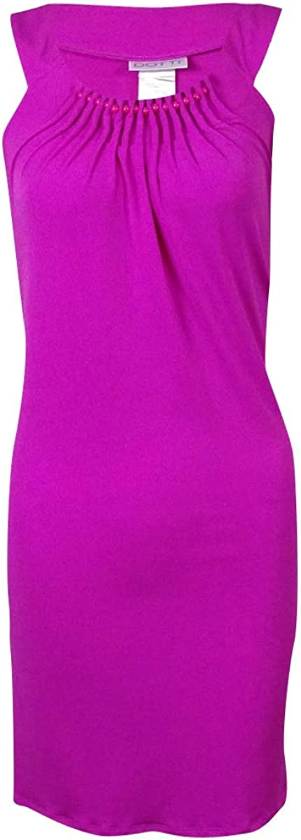 Dotti Womens Pleated Halter Jersey Swimsuit Cover