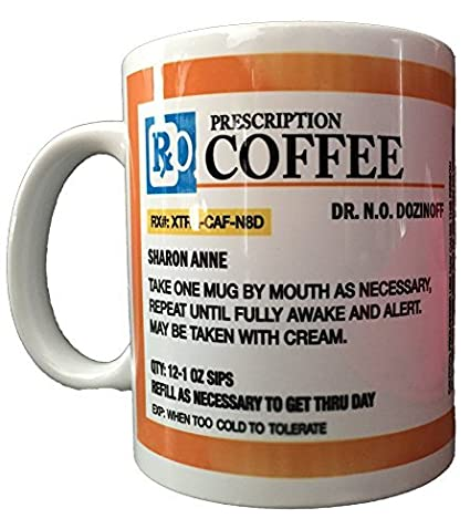 Amazon Personalized Prescription Coffee Mug Add A Custom Name