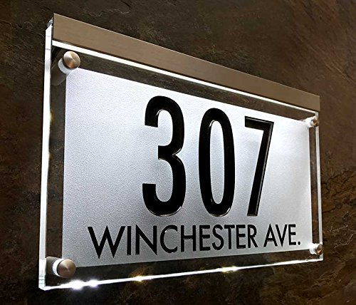 Lighted Crystal Address Sign! This address plaque is bright and beautiful