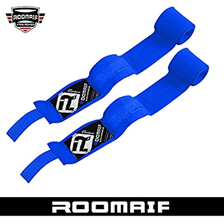 ROOMAIF Boxe Bandage Bandes MMA Prot/ège Poignet Bande dentrainement Muay Thai Bande Bandage Boxe 3.5 M FR