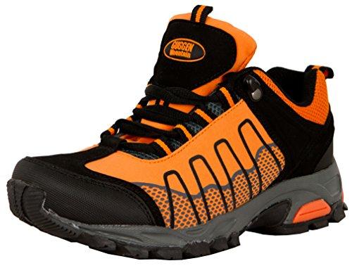 Outdoorschuhe Damen Mountain GUGGEN T002 Softshell Trekkingschuhe Outdoor Orange Frauen Walkingschuhe Wanderschuhe Schuhe dxAqnaYnw