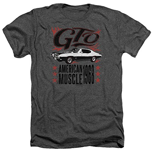 Pontiac Famous GM Automobiles GTO American Muscle 1968 Adult Heather T-Shirt Tee Gray