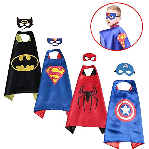 SPESS Superhero Capes Kids Dress Birthday Party Cartoon