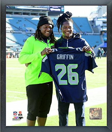"""Shaquem & Shaquill Griffin Seattle Seahawks Photo (Size: 17"""" x 21"""") Framed"""
