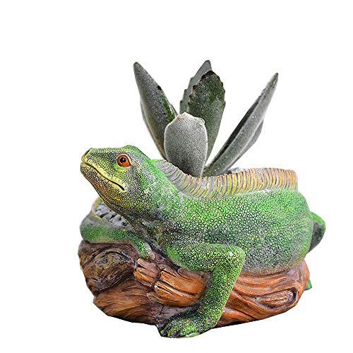 HTFGNC Creative Lizard Shaped Resin Flower Pots Succulent Planters Vase Home Office Art -