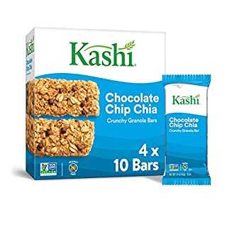 Kashi, Crunchy Granola Bars, Chocolate Chip Chia, Vegan, 1.75lb Case (20 Count)