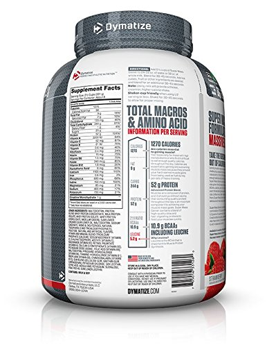 Dymatize Nutrition Super Mass Gainer Berry Cream 2722g: Amazon.es: Salud y cuidado personal
