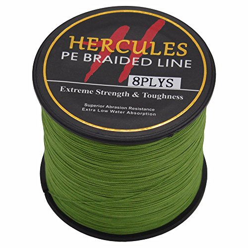 HERCULES 500m 547yds Army Green 10lbs-300lbs Pe Braided Fishing Line 8 Strands (30lb/13.6kg 0.28mm)