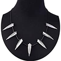LEECCO Chic Stainless Steel Necklace for Black Panther Cosplay New Wakanda King T'Challa Pendant Necklace Halloween Party