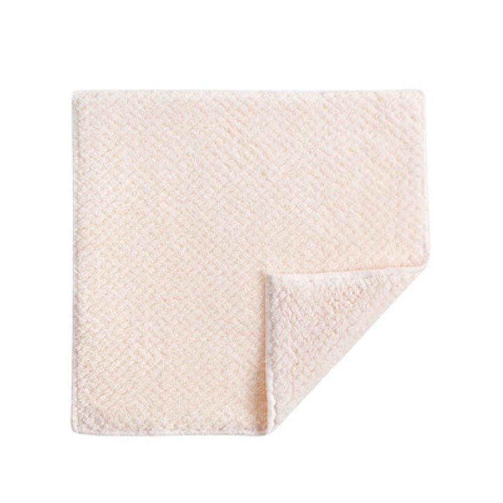 HJuyYuah Nonstick Oil Velvet Hand Towel Kitchen Quick-Drying Hanging Hand Thickened Towel (Beige)