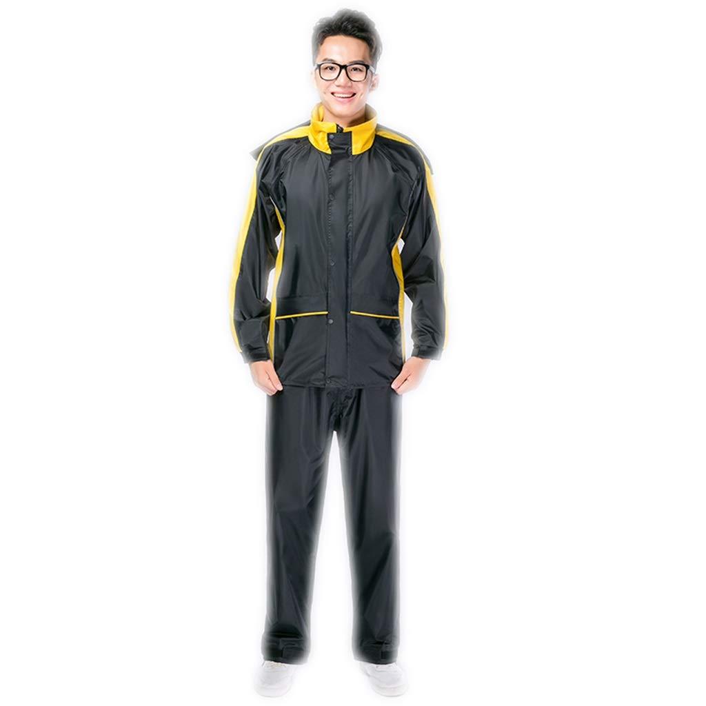 Jaune Medium Imperméable M L XL   2XL   3XL Hommes et Femmes Pantalon de Pluie Costume Split Adulte (Couleur   Orange, Taille   M)