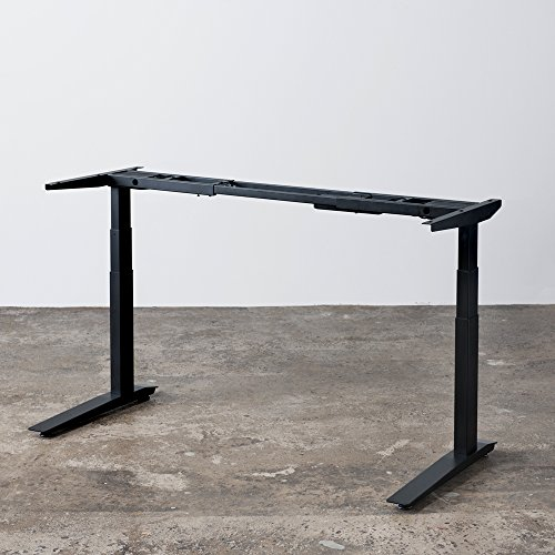 Jarvis Electric Adjustable Height Standing Desk Frame (Black)