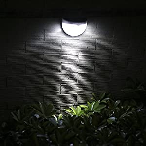 Wireless Solar Power Fence Light, ProGreen Outdoor Waterproof Solar Light Sensor Security Lights for Yard Wall Path Pool, Auto on/off (1 Pack, 6000K)