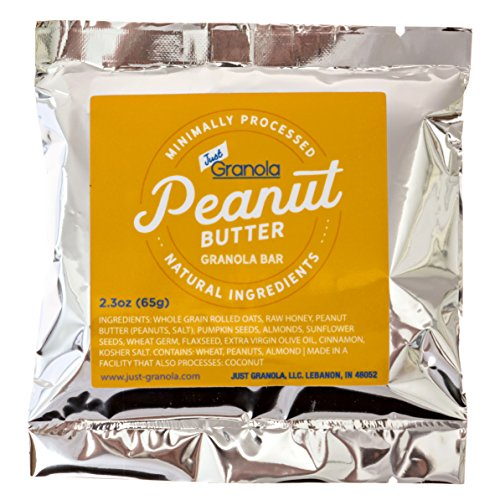 Just Granola Peanut Butter Bars (Pack of 8) - Gourmet, Natural Ingredients, Raw Honey, Prebiotics - Quick Low Calorie Breakfast, Great Lunch Item for Kids, Perfect Snack for Sporting Events - Chewy by Just Granola (Image #6)