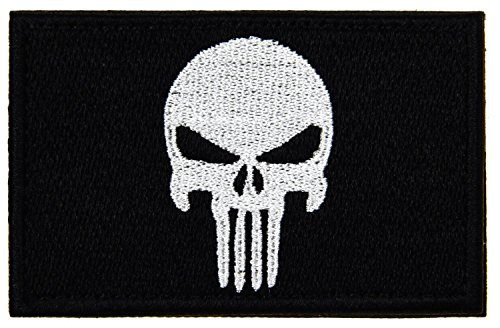 """UPC 671839895565, Punisher Skull Tactical Morale Patch with Velcro for Molle Attachments, 5.11 Backpacks, and Condor operator hats (Punisher Black, 2"""" x 3"""")"""