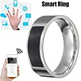 SUKEQ Multifunctional NFC Smart Ring, 2018 New Waterproof Intelligent Magic Smart Ring Universal Wear Finger Digital Ring for Samsung, Huawei, Millet and NFC Cellphone Mobile Phone (13#)