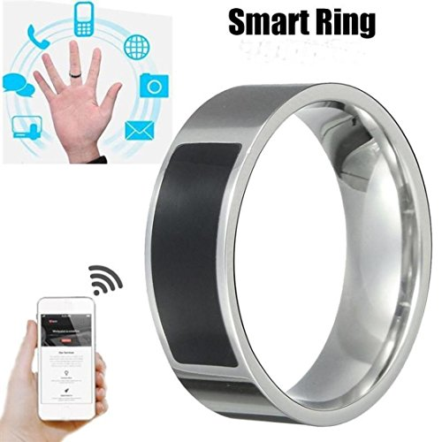 SUKEQ Multifunctional NFC Smart Ring, 2018 New Waterproof Intelligent Magic Smart Ring Universal Wear Finger Digital Ring for Samsung, Huawei, Millet and NFC Cellphone Mobile Phone (11#)