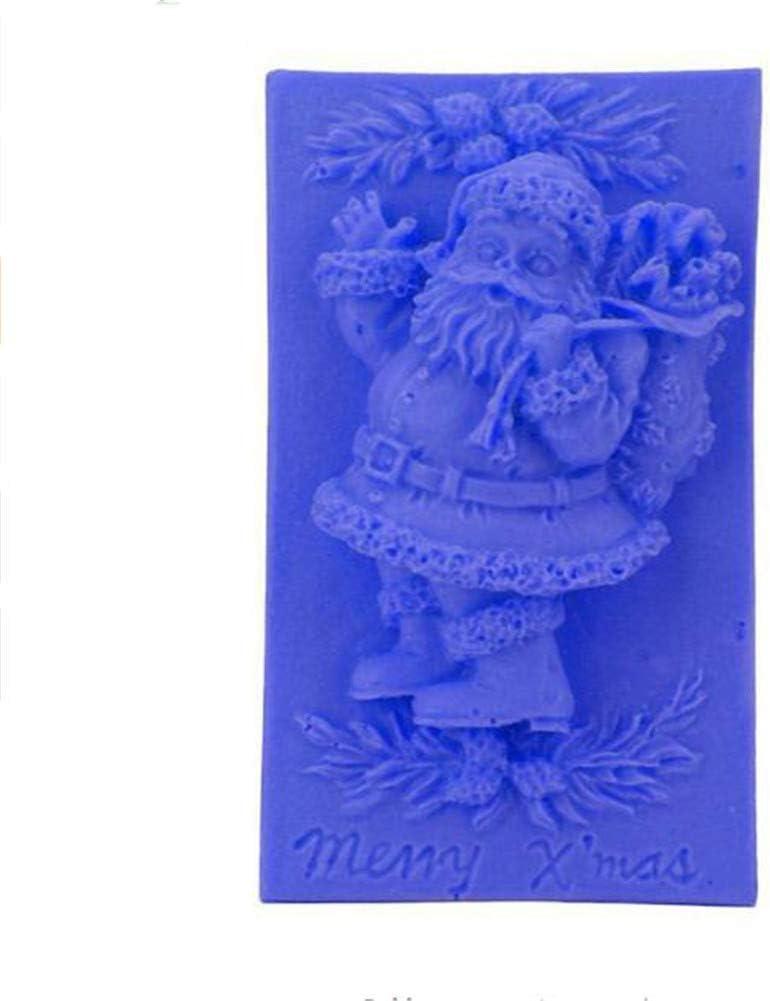 3D Horneado Cupcake Jelly Candy Chocolate Decoraci/ón Pol/ímero Flexible Caramelo Tartas Herramientas Navidad Pap/á Noel//Alce Trineo//Campanas Silicona Fondant Molde de Jab/ón Navidad Santa Claus