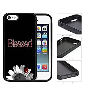 Blessed Lady Bug On Sunflower Rubber Silicone TPU Cell Phone Case Apple iPhone 5 5s