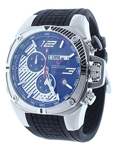 Technosport TS-100-12F1 Men's Swiss Chronograph Watch Formula 1 Black & Silver