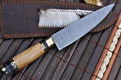 Now on Sale - Custom Handmade Damascus Hunting Knife - Beautiful Kitchen & Camping Knife